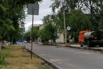 Обустройство тротуаров на улице Строителей и Попова